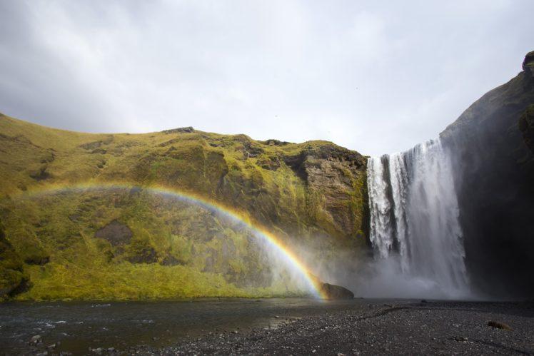 rainbows, Waterfall, Iceland HD Wallpaper Desktop Background