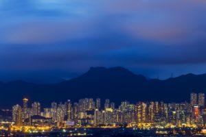 cityscape, Mountains