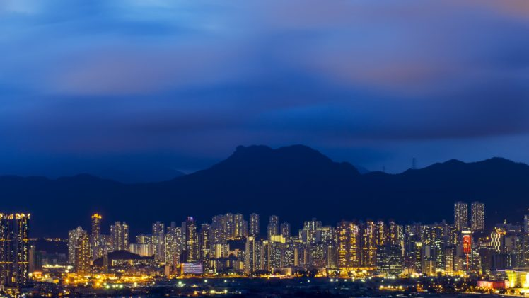 cityscape, Mountains HD Wallpaper Desktop Background