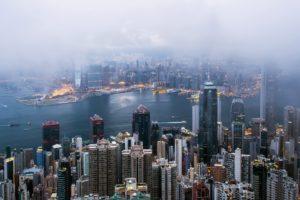 cityscape, Mist, Hong Kong