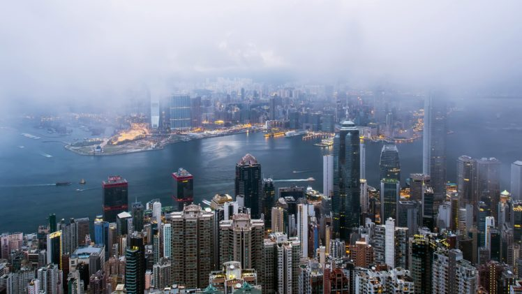 Cityscape Mist Hong Kong Hd Wallpapers Desktop And Mobile Images