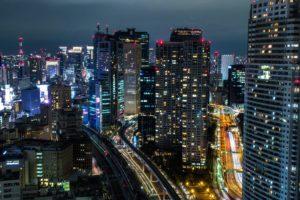 cityscape, Night, Tokyo