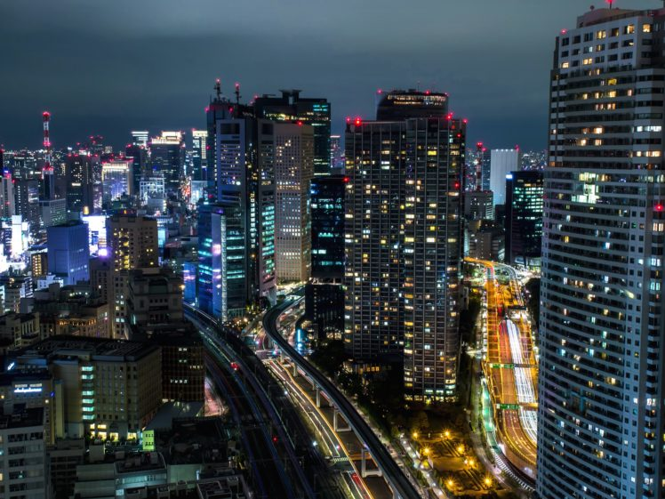 cityscape, Night, Tokyo HD Wallpaper Desktop Background