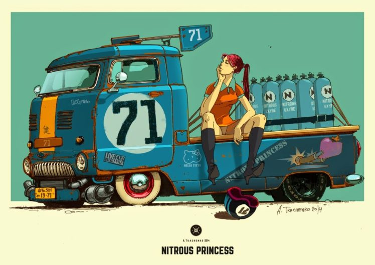 A. Tkachenko, Concept art, Car HD Wallpaper Desktop Background