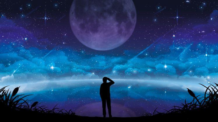 illustration, Stars, Sky, Space, Artwork HD Wallpaper Desktop Background