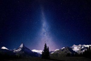 Milky Way, Night sky, Nature