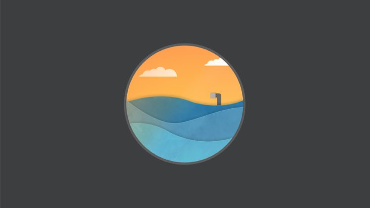 logo, Flatdesign, Minimalism, Graphic design, Pacific Ocean HD Wallpaper Desktop Background