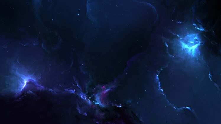 nebula, Space, Blue, Stars, 3D HD Wallpaper Desktop Background