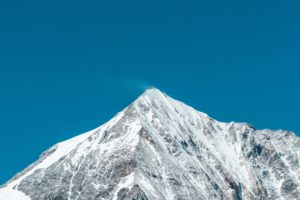 snow, Blue, Peak