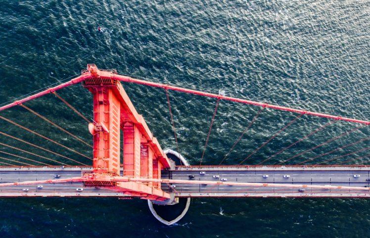 sea, Bridge, Golden Gate Bridge HD