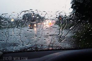 rain, Lights, Water drops