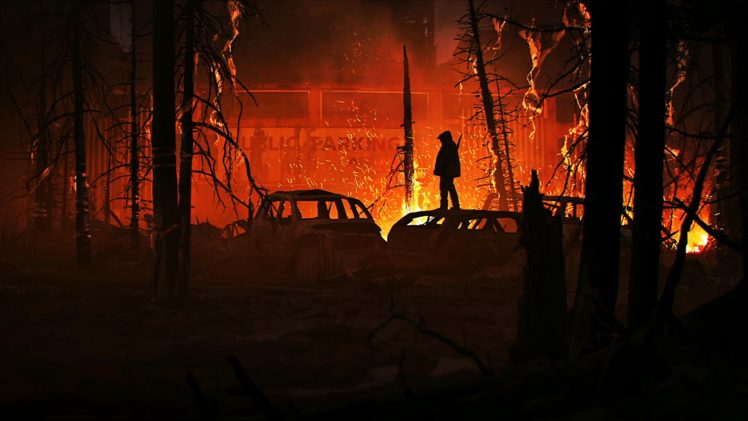 The Last of Us, Naughty Dog, Concept art, Gamer, Fire, Apocalyptic HD Wallpaper Desktop Background