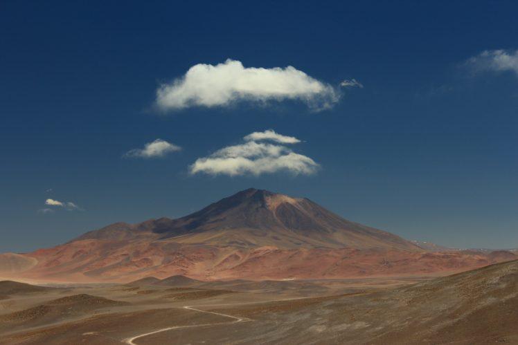 mountains, Clouds, Sky, Nature HD Wallpaper Desktop Background