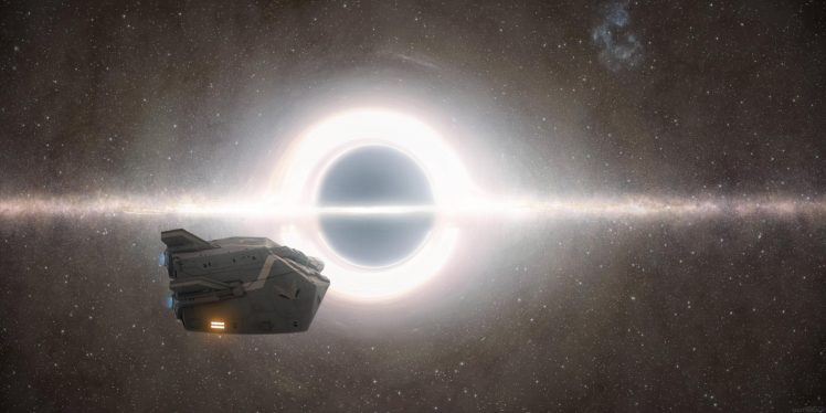 Elite: Dangerous, Spaceship, Photo manipulation, Black holes, Stars, Space, Science fiction HD Wallpaper Desktop Background
