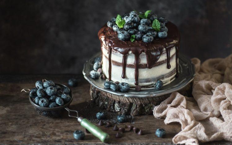 cake, Berries, Food, Chocolate HD Wallpaper Desktop Background
