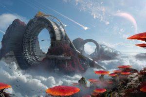 futuristic, Warp, Space