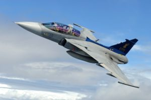 Swedish, Aircraft, Military aircraft, JAS 39 Gripen, Swedish Air Force, Jet fighter, Airplane