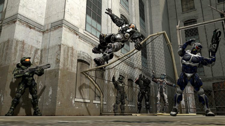 Master Chief, Isaac Clarke, Commander Shepard, Spartan Buck, Source Filmmaker, Halo, Starcraft II, Jim Raynor, Crysis, Crysis 3 Prophet, Dead Space, Mass Effect, Video games HD Wallpaper Desktop Background