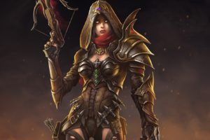 women, Valla, Fantasy art, Diablo III, Video games, Demon Hunter (Diablo)