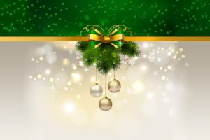Christmas ornaments, Wreaths, Green