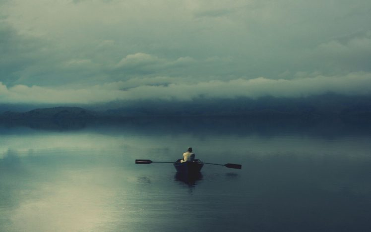 boat, Lake, Mist, Isolation HD Wallpaper Desktop Background