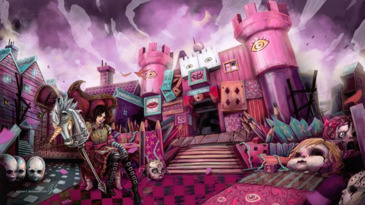 artwork, American McGee&039;s Alice, Alice: Madness Returns HD Wallpaper Desktop Background