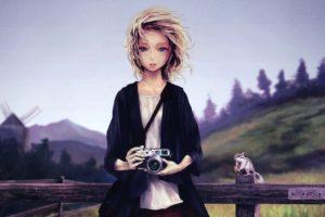 photographer, Women, Artwork, Drawing, Leica