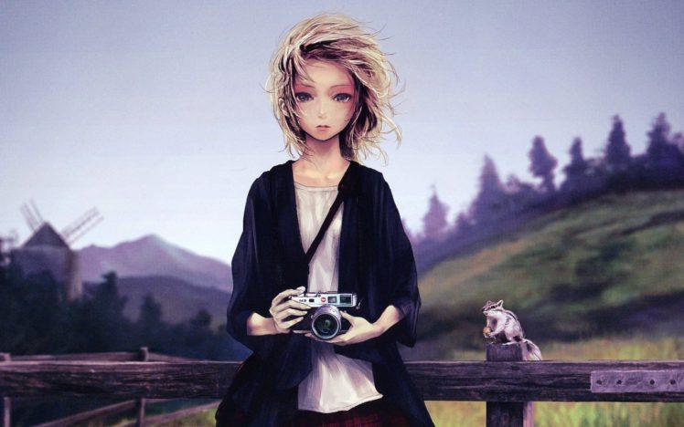 photographer, Women, Artwork, Drawing, Leica HD Wallpaper Desktop Background