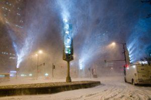 snow, Winter, Lights, Night, Chicago