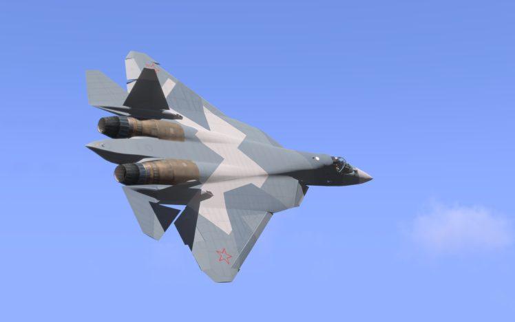 Sukhoi PAK FA Russian Air Force HD Wallpaper Desktop Background
