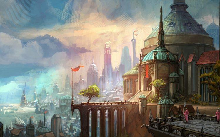 artwork, Ancient, Castle HD Wallpaper Desktop Background