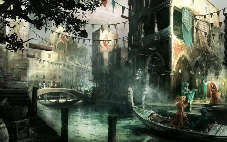 artwork, Ancient, Assassin&039;s Creed 2, Video games HD Wallpaper Desktop Background