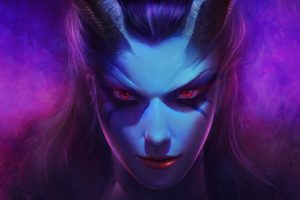 women, Queen of Pain, Fantasy art, Dota 2