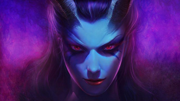 women, Queen of Pain, Fantasy art, Dota 2 HD Wallpaper Desktop Background