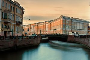 architecture, Building, City, St. Petersburg, Russia, Long exposure, River, Old building, Bridge, Street, Car