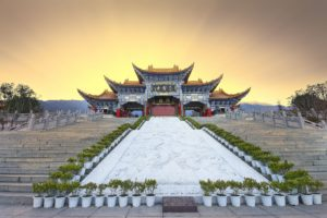 architecture, Building, City, Asian architecture, China, Temple, Sun rays