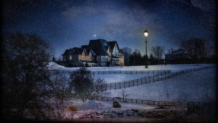 Download Wallpaper Night House - 463895-house-lights-nature-trees-forest-night-winter-snow-hills-fence-field-stars-lamp-mansions-748x421  Snapshot-831116.jpg