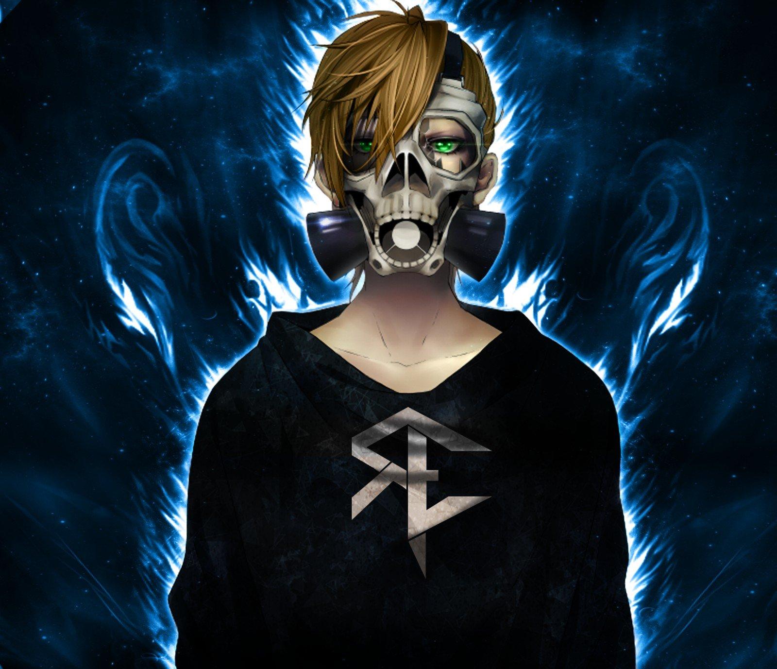 blonde, Gas masks, Anime, Skull, Fire, Reinelex HD ...