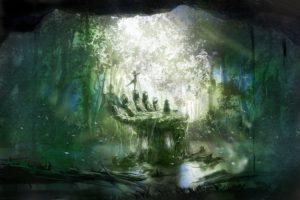 artwork, Forest, Nature
