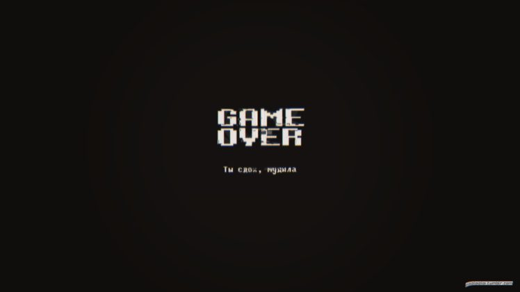 Glitch Art Minimalism Dark Game Over Abstract Hd Wallpapers