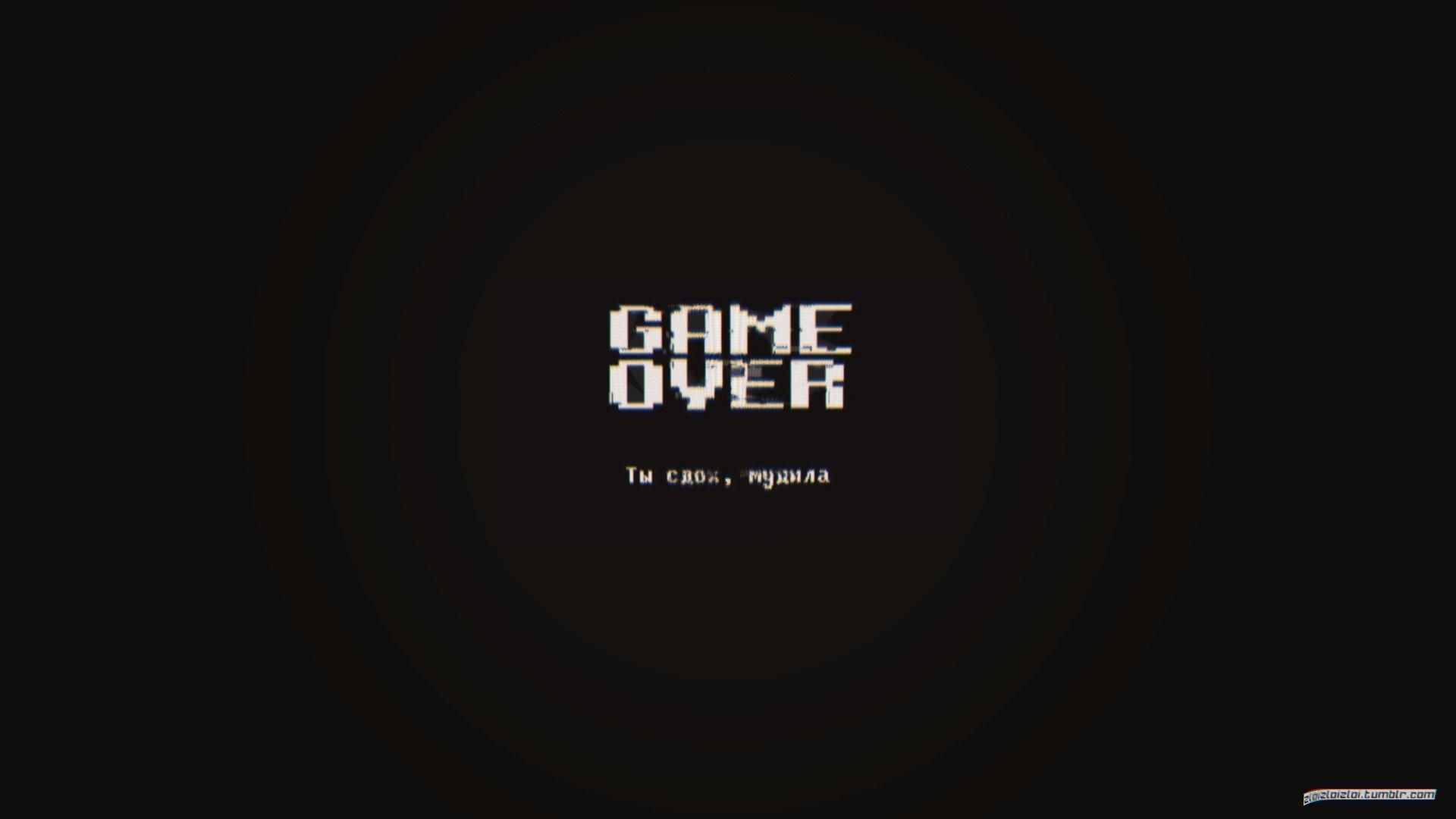 glitch art, Minimalism, Dark, GAME OVER, Abstract HD ...