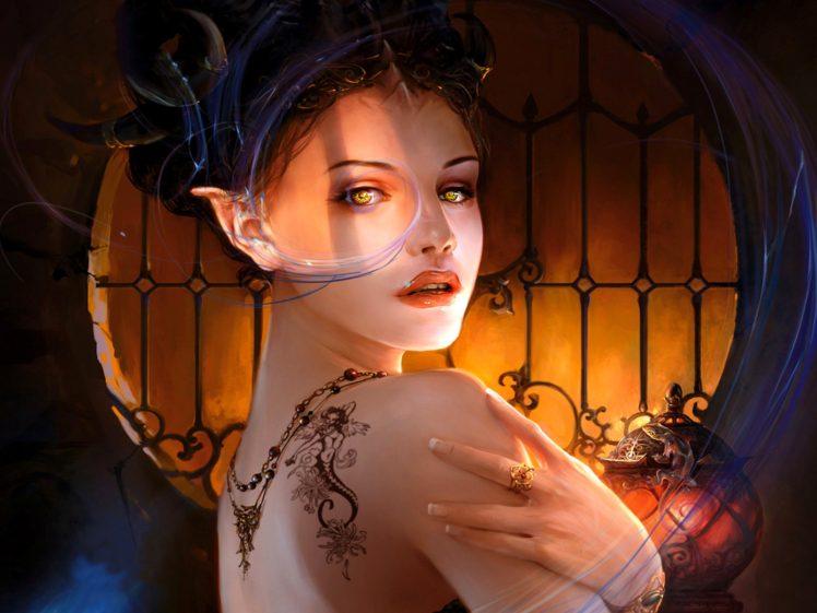 fantasy art, Tattoo HD Wallpaper Desktop Background