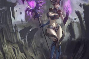 warrior, Fantasy art, Magic