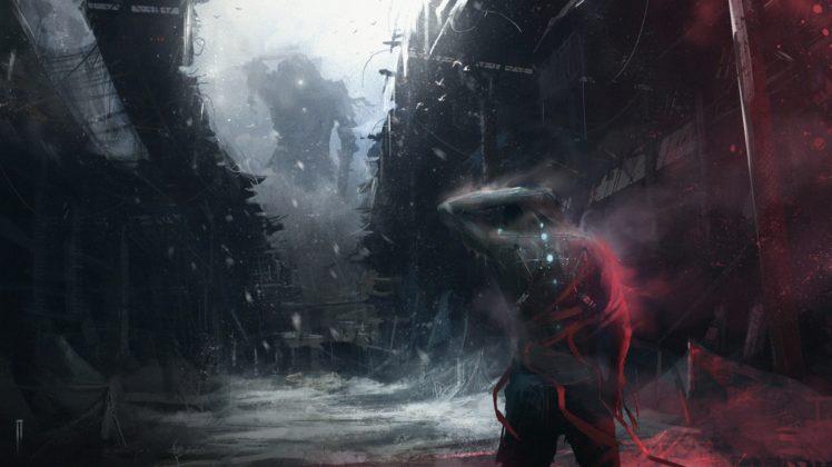 warrior, Fantasy art, Futuristic HD Wallpaper Desktop Background