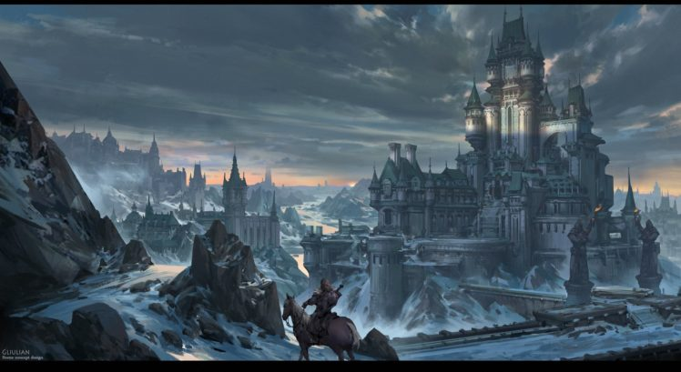 Fantasy Art Castle Hd Wallpapers Desktop And Mobile
