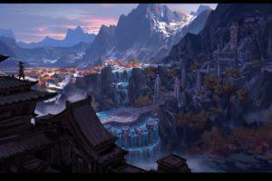 fantasy art, Waterfall