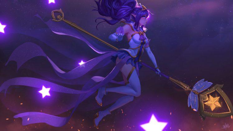 magic, Fantasy art, Janna (League of Legends) HD Wallpaper Desktop Background