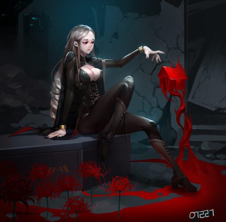 vampires, Magic, Blood HD Wallpaper Desktop Background