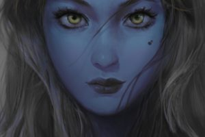 fantasy art, Blue