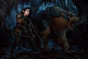 archer, Laura Bailey, Fantasy art, Critical Role, Trinket, Vex&039;ahlia